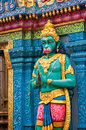 Hanuman statue sri krishnan temple singapore asia Stock Photos