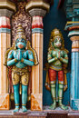 Hanuman statues in Hindu Temple Royalty Free Stock Photos