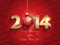 Happ new year bauble background happy with a design Stock Photo