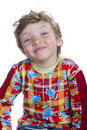 Happines boy isolated on white Royalty Free Stock Photo