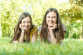 Happines friends enjoyment happiness in the nature Stock Images
