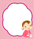 Happiness baby girl illustration of cute Royalty Free Stock Images