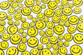 Happiness concept of background made from smiley faces Stock Photography