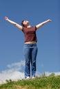 Happiness & freedom Stock Photo
