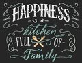 Happiness is a kitchen full of family sign