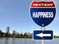 Happiness road sign Royalty Free Stock Photo