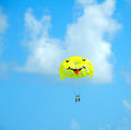 Happiness is a Smiley Parasail Ride Royalty Free Stock Photo