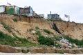 HAPPISBURGH, NORFOLK/UK - AUGUST 6 : Coastal erosion at Happisburgh Norfolk on August 6, 2008 Royalty Free Stock Photo
