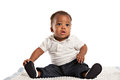 Happy 3 Month Old African American Baby Royalty Free Stock Image