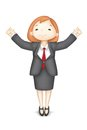 Happy 3d Business Woman in Vector Stock Images