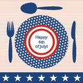 Happy 4th of july! Royalty Free Stock Photography