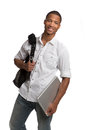 Happy African American College Student Royalty Free Stock Photo