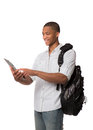 Happy African American College Student Stock Images