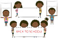 Happy African-American cute school kids Royalty Free Stock Image