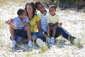 Happy African American Family Outside Stock Photography