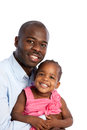Happy African American Father Holding Baby Girl Stock Photography