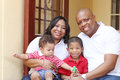Happy african family in their new house. Royalty Free Stock Photo