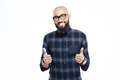 Happy afro american man showing thumbs up Royalty Free Stock Photo