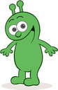 Happy alien cartoon and smiling Royalty Free Stock Image