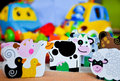 Happy animal farm toy for babies Stock Images