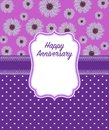 Happy Anniversary Greeting Card in Purple colour