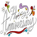 Happy anniversary message an image of text Stock Image