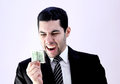 Happy arab businessman with money Royalty Free Stock Photo