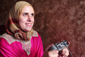 Happy Arab Egyptian Muslim Wom...
