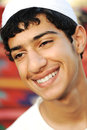 Happy arabic teenager is smiling Royalty Free Stock Photo