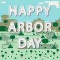Happy arbor day Royalty Free Stock Photo