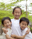 Happy asian children Stock Image
