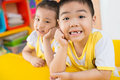 Happy asian children Royalty Free Stock Image