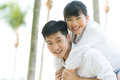 Happy Asian couple in love. Royalty Free Stock Images