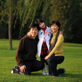 Happy asian family Stock Photography
