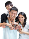 Happy Asian family Royalty Free Stock Images