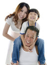 Happy Asian family Stock Image