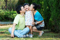 Happy asian family having fun Royalty Free Stock Images