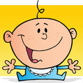 Happy baby boy cartoon character Stock Photo