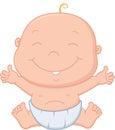 Happy baby boy cartoon Royalty Free Stock Photo