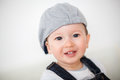 Happy baby boy with hat Stock Photography