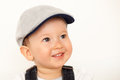 Happy baby boy with hat smiling Stock Images