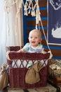Happy baby boy Royalty Free Stock Photo
