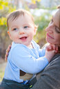 Happy Baby with His Mom Royalty Free Stock Images