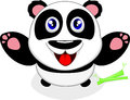 Happy Baby Panda Laughing Royalty Free Stock Photography