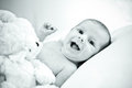 Happy baby smiling Stock Photography