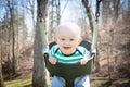 Happy Baby Swinging Royalty Free Stock Photo
