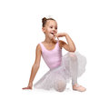 Happy  ballerina Royalty Free Stock Photo