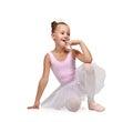 Happy  ballerina Royalty Free Stock Photo