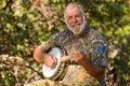 Happy Banjo Player Royalty Free Stock Photo