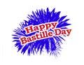 Happy Bastille Day Graphic Logo